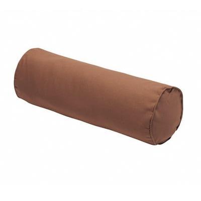 Cuscino Cilindrico marrone 20x60 cm