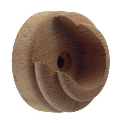 Supporto singolo aperto aosta in legno grezzo decapato, 2 pezzi