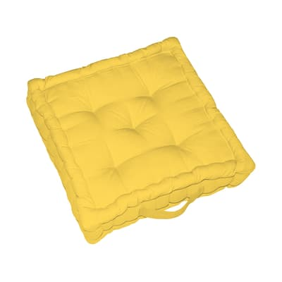 Cuscino da pavimento INSPIRE Elema giallo 60x60 cm
