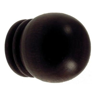 Finale per bastone Berlino sfera Ø35mm noce verniciato Set di 2 pezzi