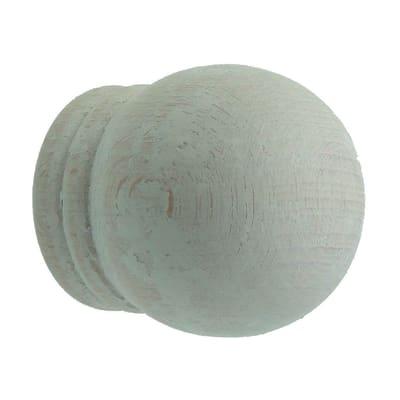 Finale per bastone Ø35mm Palla sfera in legno decapato Set di 2 pezzi