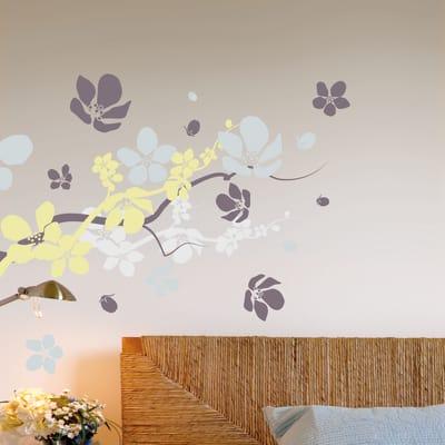Sticker Branches & flowers 6x73 cm