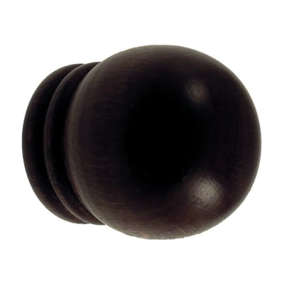 Finale per bastone Ø28mm Berlino sfera in legno verniciato Set di 2 pezzi