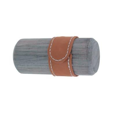 Finale per bastone Ø28mm cilindro in legno oak sonoma opaco INSPIRE