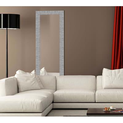 Specchio fedra rettangolare argento 80x120 cm prezzi e for Cuscini 80x120