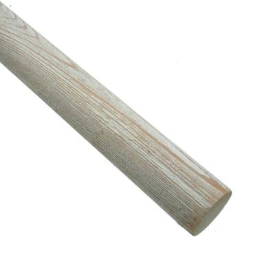 Bastone per tenda Aspen in legno Ø35mm bianco decapato 200 cm