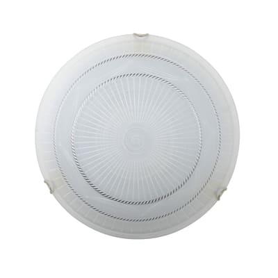 Plafoniera Vesta bianco, in vetro, diam. 40 cm, E27 2xMAX42W IP20