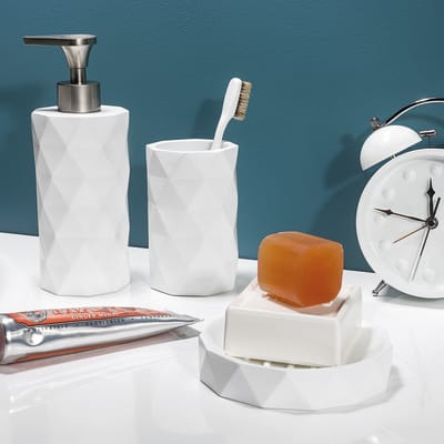 Dispenser sapone Poly bianco
