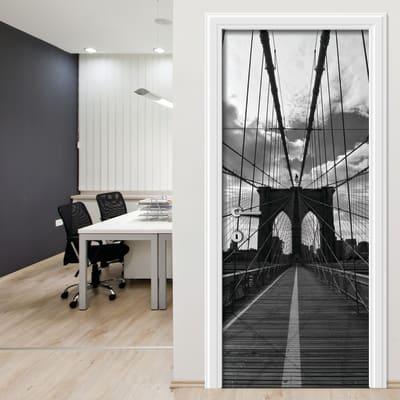 Sticker Black and white bridge 9x96 cm