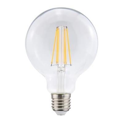 Lampadina Filamento LED E27 globo bianco caldo 8W = 1055LM (equiv 75W) 360° LEXMAN