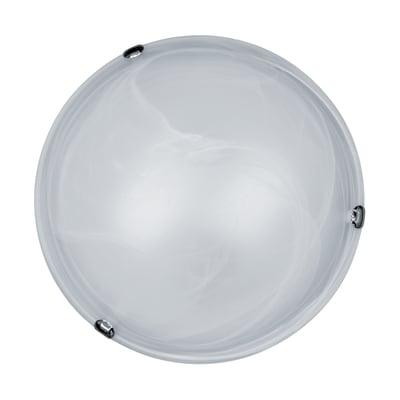 Plafoniera classico Emma bianco, in vetro,  D. 40 cm 2  luci LEXMAN