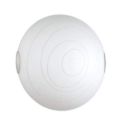 Plafoniera Kent bianco, in vetro, diam. 40 cm, E27 2xMAX60W IP20