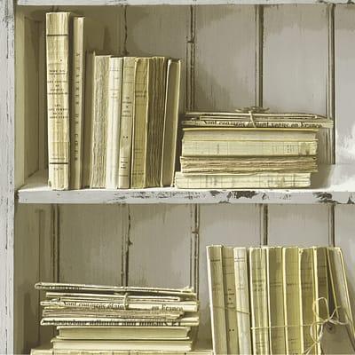 Carta da parati Old Library beige