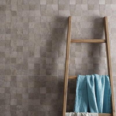 Piastrella Vision Cube L 25 x H 75 cm grigio