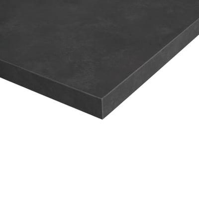 Piano cucina su misura in truciolare Stone grigio scuro , spessore 4 cm