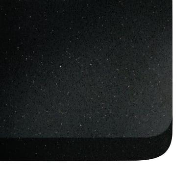 Piano cucina su misura in quarzo Stellar nero , spessore 3 cm