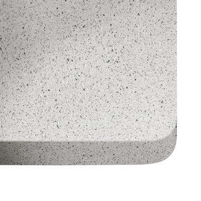 Piano cucina su misura in quarzo Stellar bianco , spessore 2 cm