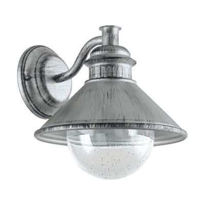 Applique Albacete in acciaio inossidabile, grigio, E27 MAX40W IP44 EGLO