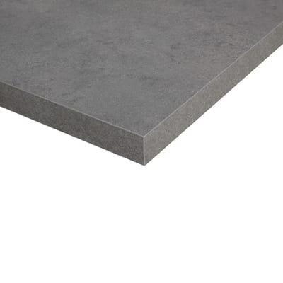 Piano cucina su misura in truciolare Porfido grigio scuro , spessore 4 cm