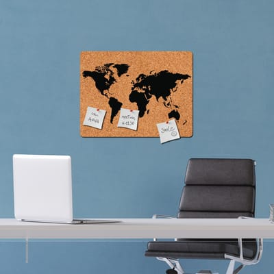 Sticker World map 46x67 cm