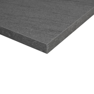 Piano cucina su misura in truciolare Pietra Lavica grigio scuro , spessore 4 cm