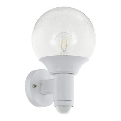Applique ascendente Sossano bianco in plastica, trasparente, E27 MAX28W IP44