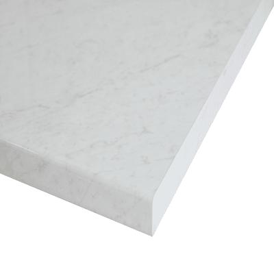 Piano cucina su misura in truciolare Marmo Apuano bianco , spessore 6 cm