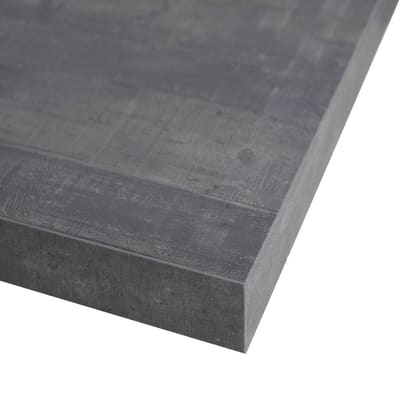 Piano cucina su misura in laminato Kaos grigio , spessore 6 cm