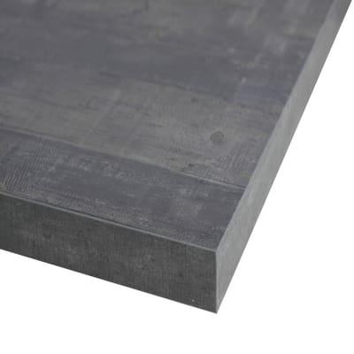 Piano cucina su misura in truciolare Kaos grigio , spessore 4 cm