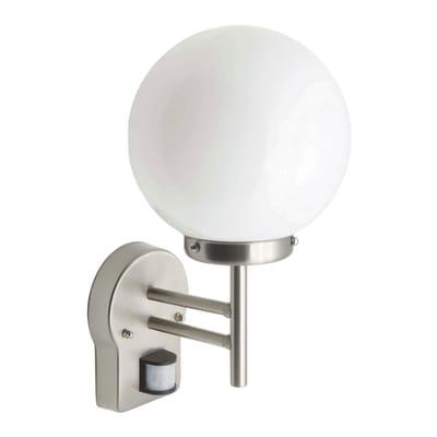 Applique Aalborg LED integrato con sensore di movimento, in acciaio inossidabile, alluminio, 0W 630LM IP44