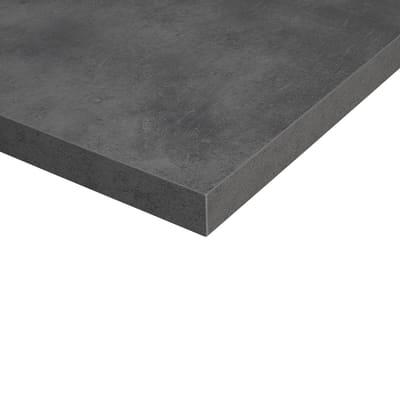 Piano cucina su misura in laminato Copperf. grigio , spessore 6 cm