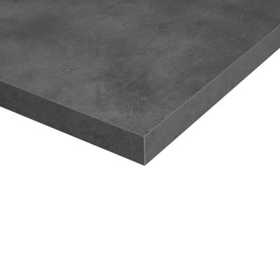 Piano cucina su misura in truciolare Copperfield grigio , spessore 2 cm