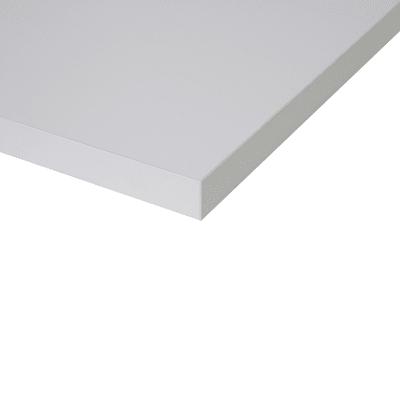 Piano cucina su misura in truciolare Luna bianco , spessore 6 cm
