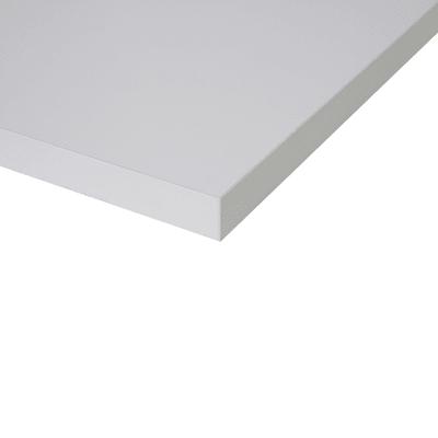 Piano cucina su misura in truciolare Luna bianco , spessore 2 cm