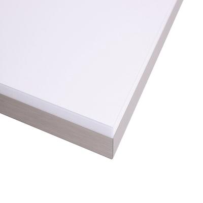 Piano cucina su misura in truciolare bianco lucido , spessore 2 cm