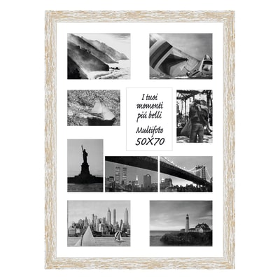 Cornice Gaia per 10 fotografie 13 x 18  bianco