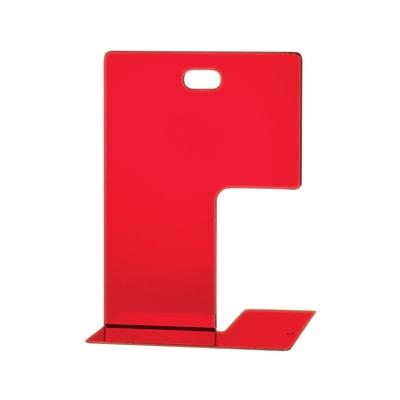 Fermalibri L 14 x H 19.5 cm rosso
