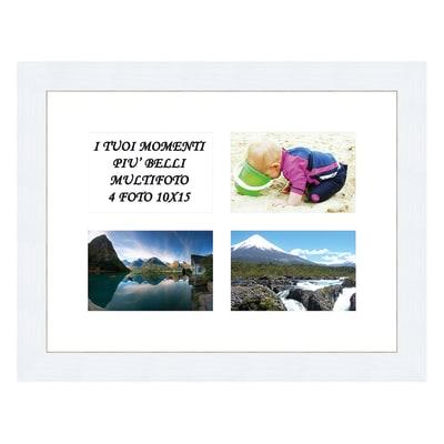 Cornice Maussane per 4 fotografie 10 x 15  bianco<multisep/>bianco