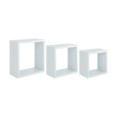 Mensola a cubo Spaceo L 30 x H 30 cm, Sp 12 mm bianco
