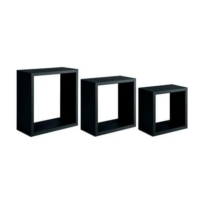 Mensola a cubo L 35 x H 35 cm, Sp 18 mm nero