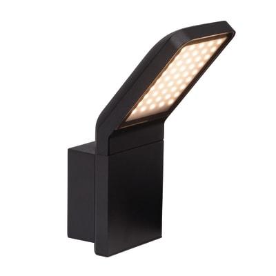 Applique Panel LED integrato in alluminio, nero, 9W 600LM IP44 BRILLIANT