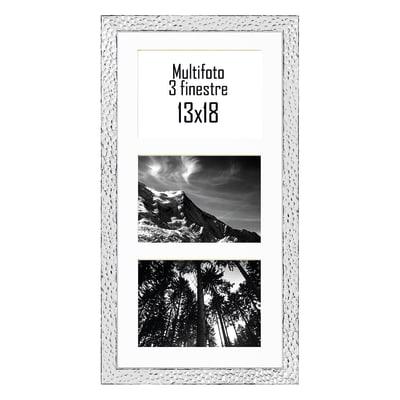 Cornice New York per 3 fotografie 13 x 18 alluminio