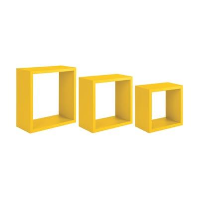 Mensola a cubo L 35 x H 35 cm, Sp 18 mm giallo