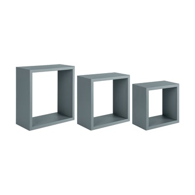 Mensola a cubo L 35 x H 35 cm, Sp 18 mm grigio
