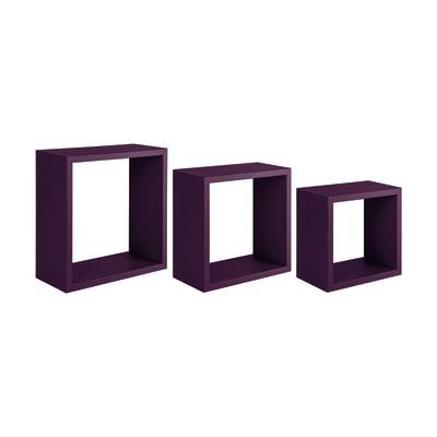 Mensola a cubo L 35 x H 35 cm, Sp 18 mm viola
