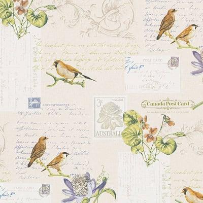 Carta da parati Vintage cartolina bianco