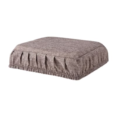 Cuscino per sedia con elastico Antonella grigio 40x40 cm