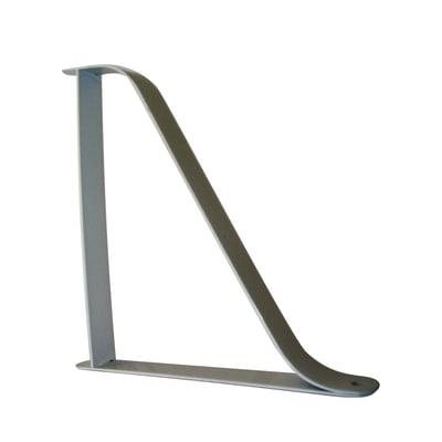 Reggimensola Ribbon L 20.6 x H 20.6 cm grigio / argento