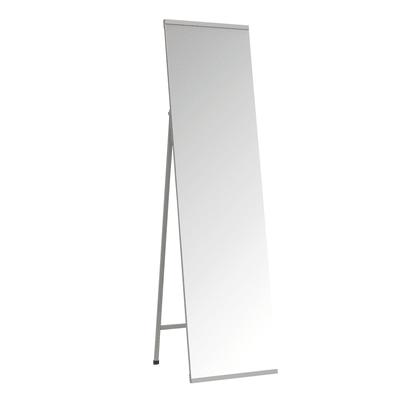 Specchio Metal rettangolare argento 40x150 cm