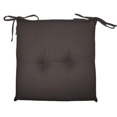 Cuscino per sedia Antimacchia nero 40x40 cm